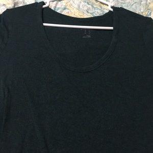 Dark teal scoop neck t shirt